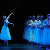 Eugene Ballet Company performs Giselle at the Hult Center for the Performing arts in Eugene, Oregon, USA
