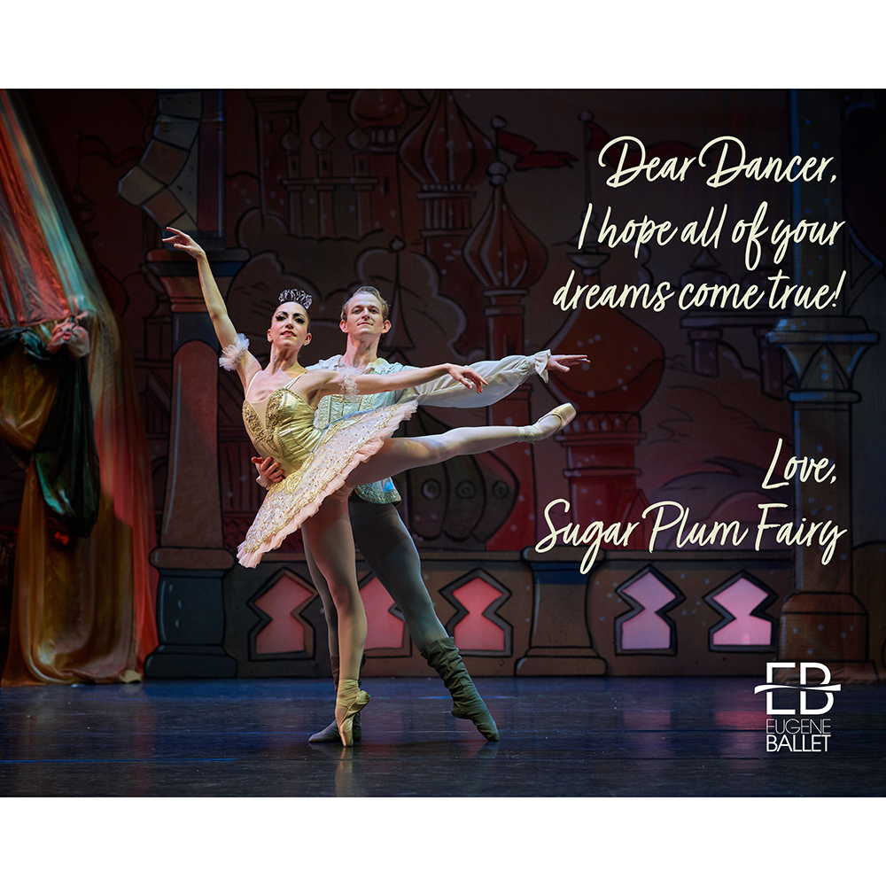 Photo And Note From Sugar Plum Fairy